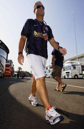 Barrichello, em Monza, assumindo que jamais será campeão mundial. (Foto: UOL)